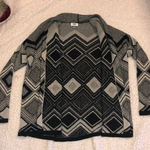 Old navy patterned cardigan